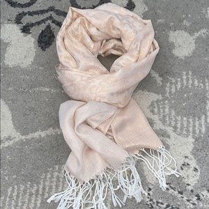 Rose gold scarf